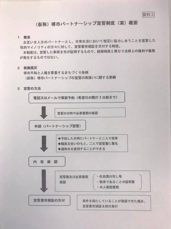 大阪府堺市が、来年4月から同性...